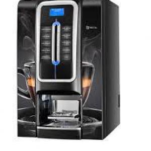 Máquina de café que coloca dinheiro